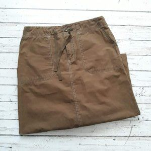 3/$20 EDDIE BAUER Brown Pocket Midi Skirt Size 6